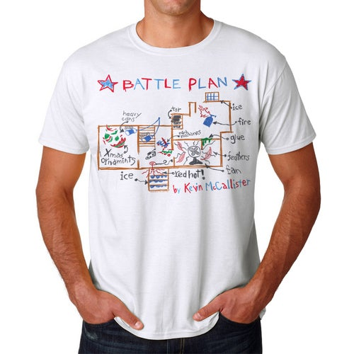 Home Alone Battle Plan By Kevin Men's White T-shirt
