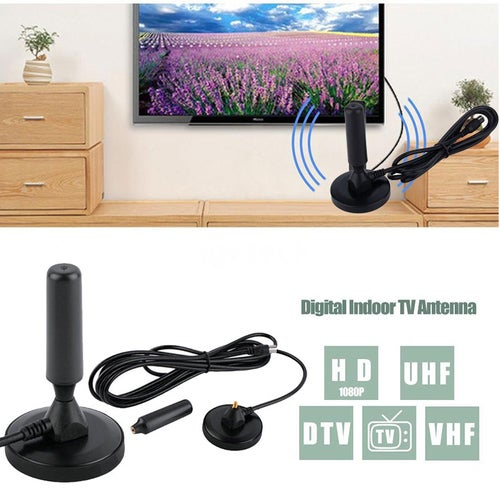 High Gain Freeview HD TV Aerial  Indoor 30dBi Digital TV Antenna Aerial Booster DVB-T