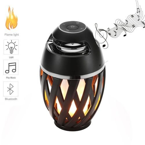 LED Flame Lamp Portable Bluetooth Speaker&Torch Atmosphere Flicker Warm Light Gift