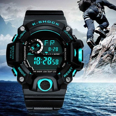 Men Digital Sports outdoor Watches LED Military Student Wristwatches waterproof