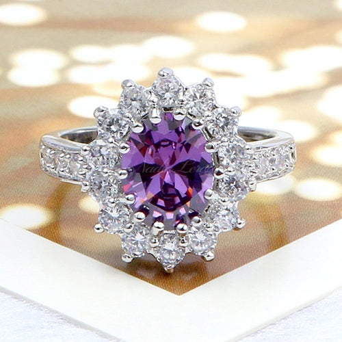 Delicate Amethyst Sterling Silver 925 Ring