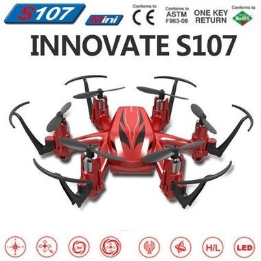 S107 2.4G 6 Axis Gyro Quad Copter 4CH Remote Control Headless Mode RTF Aircraft