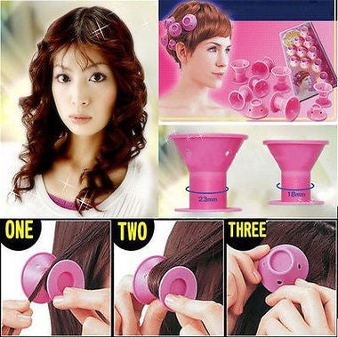10pcs  DIY Peco Roll Hair Style Roller Curler Salon Home