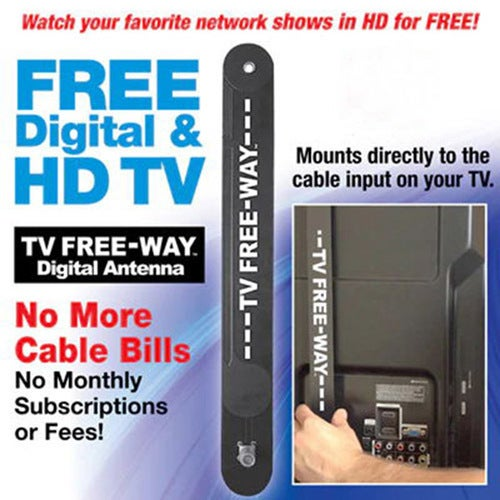 TV Free Away Digital TV Antenna 35 Mile Range HDTV Indoor with 9.8 Feet Coax Cable
