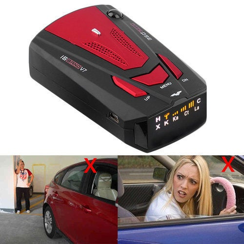 Car Speed Measuring Radar Detector Anti-Police GPS With Voice Alert