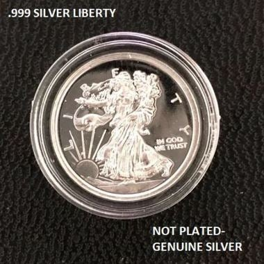 1 Gram .999 Fine Pure Silver Mini Walking Liberty Coins