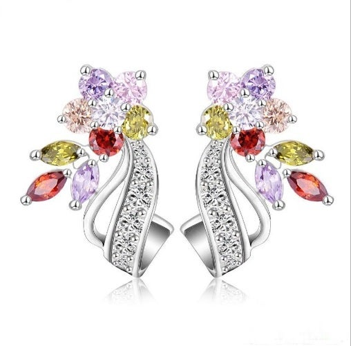 High quality, White gold filled earrings for women. Genuine Italian stones. Lot's of details and elegant design. Something you don't want to miss.