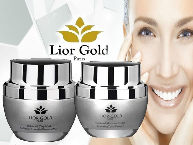 Lior Gold Paris Diamond 2pc Set (Day Cream and Clay Mask)