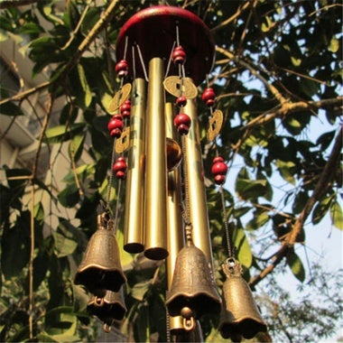Outdoor Yard Bells Copper Decor Wind Chimes Decoration And Retro
