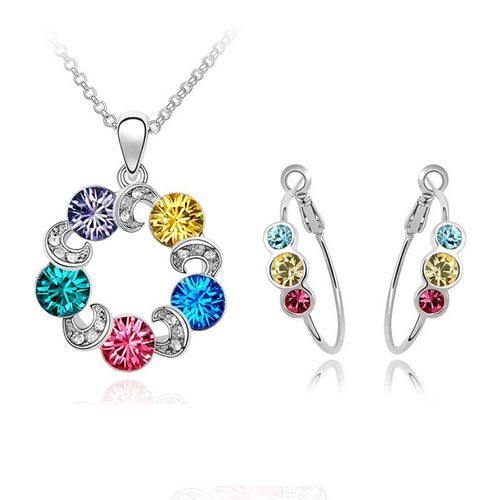 Silver Plated Multi Color set