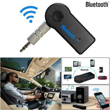 Universal 3.5mm Auto AUX A2DP Function Bluetooth Audio Music Receiver Adapter Ki