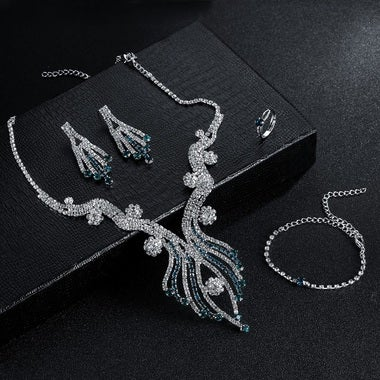 5 pcs/set Fashion Luxury Zircon Jewelry Sets for Women