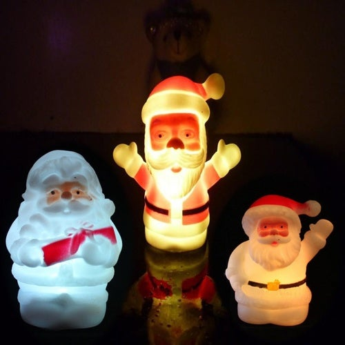 High Quality Gift Energy Saving Home Decorations Party Decoration Night Light Colorful Changing Santa Claus LED Night Light Lamp Xmas Romantic Room Decoration Christmas Lights