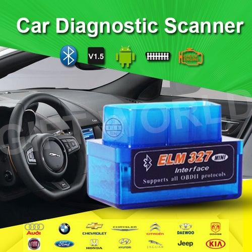 New Mini OBD2 OBD ii Wireless V2.1 Super Mini ELM327 Bluetooth Interface Car Scanner Diagnostic Tool ELM 327 For Android Torque Windows