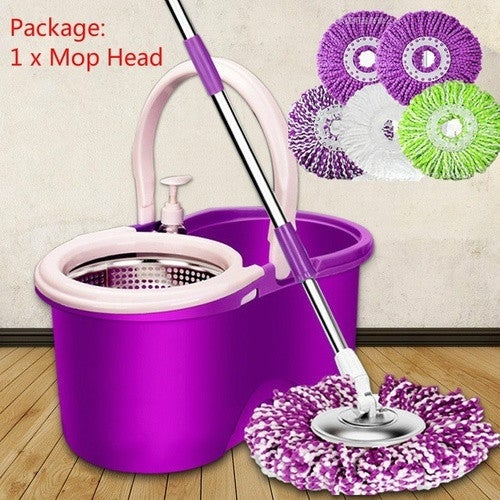 New Year Gift! 360 Degree Rotating Microfiber Cloth Replacement 1 piece Mop Head Replace Cloth