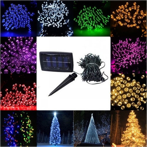 100 LED 9 Meters 2V Solar Power Fairy Lights String Lamp C Party Xmas Garden Outdoor White/Warm White/RGB