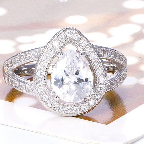Beautiful White Sapphire Sterling Silver 925 Ring