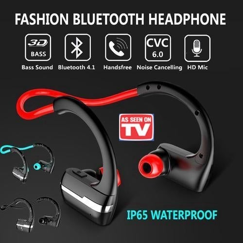 Mini Wireless Bluetooth Headset Sport Stereo In-Ear Headphone with HD Mic CVC Noise Cancellation Sweat Resistant for IOS