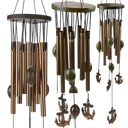 1 Pcs Retro home brass anchor wind chime lucky evil indoor courtyard chimes  ornaments