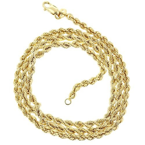 18kt Gold Filled 20 Inches Diamond Cut Rope Chain Necklace