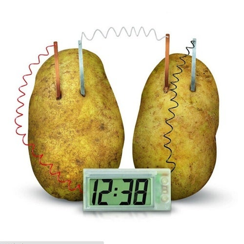 Potato Clock Lab Home School Toy Novel Green Science Project Experiment Kit
