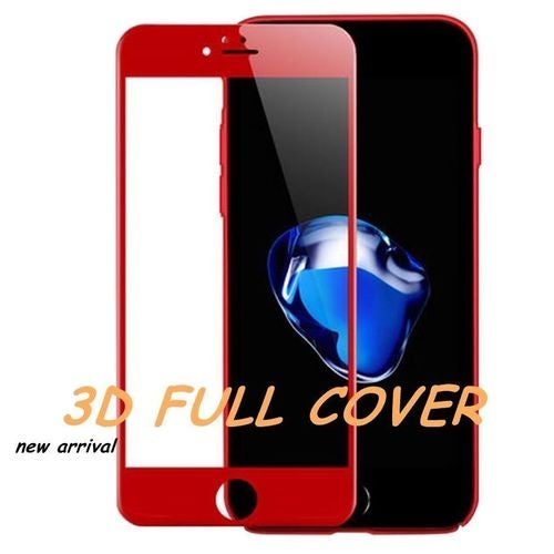 RED 3D Full Cover Curved 9H Tempered Glass Screen Protector For iPhone 7/7 Plus