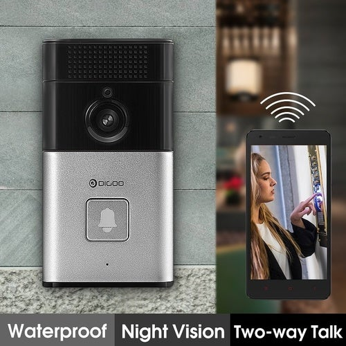 Digoo DoorBell 720P HD WIFI Wireless Video Camera Viewer Night Vision Door Phone Ring Bell Alarm Smart Home Security System Size: Type1