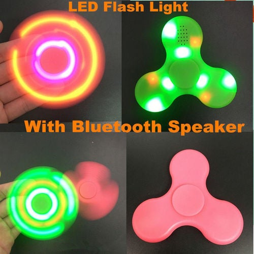 Bluetooth Speaker LED Light Anti Stress Hand Fidget EDC Hand Spinner Gyro Toys ADHD Autism
