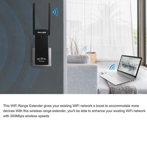 Mini Portable 300Mbps Wirless USB WiFi Range Extender Wi-Fi Signal Repeater Amplifier Expander Router 802.11 b/g /n with Dual Antennas