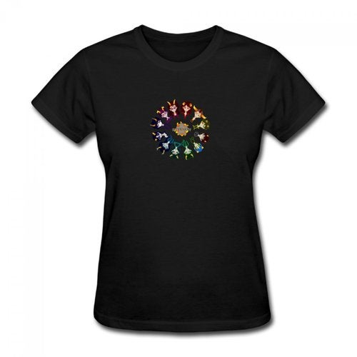 Homestuck Hivebent Betas Clock Starsign Women's Cotton Short Sleeve T-shirt