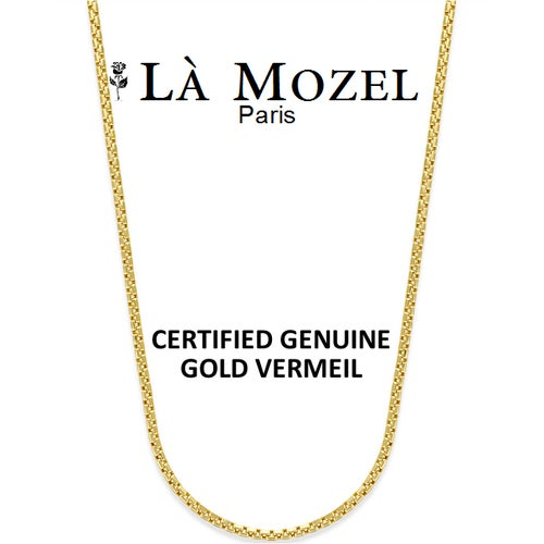 "Authentic Luxurious 18K Yellow Gold Vermeil Italian Crafted Excellent Quality Round Box Chain: Choose Your Size 16""-30"""