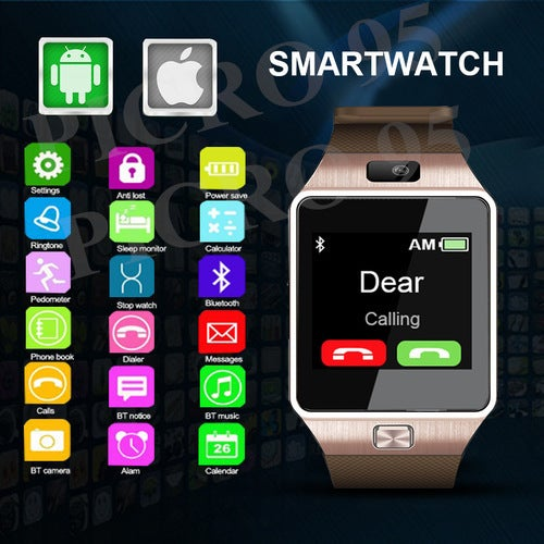 2017 SIM Smartwatch Support UP to 32GB TF Card,Bluetooth Smart Camera GSM SIM/TF Phone For IOS Android