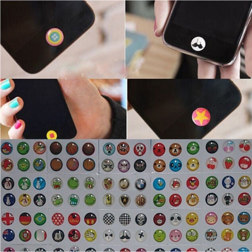 330PCS Home Button Sticker Protector for iPhone 5 5s 6 6plus iPad iTouch