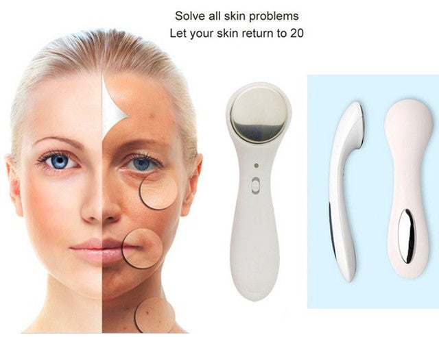 Electric Negative Ions Ultrasonic Ion Face Lift Facial Beauty Device Ultrasound Skin Care Vibrating Massager