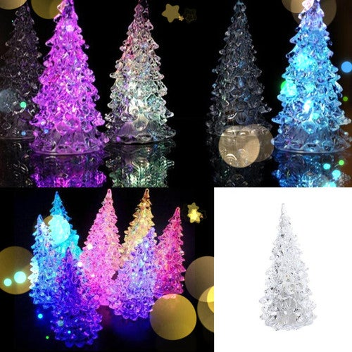 1 pcs Xmas LED Lamp Light Crystal Decoration Home Party Gift Decor Christmas Tree
