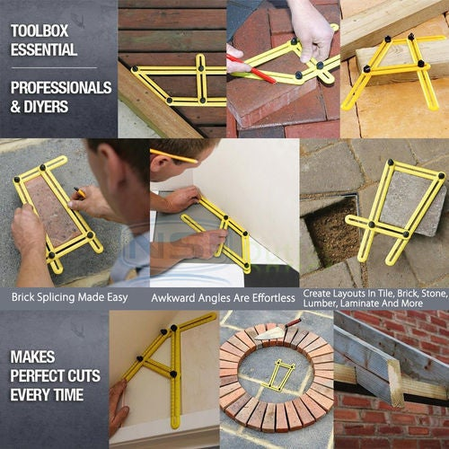 Angleizer Template Tool - Measures All Angles and Forms Angle-izer for Handymen ,Builders, Craftsmen