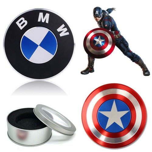 Captain America Shield / BMW Fidget Hand Spinner Toy EDC Focus ADHD Autism