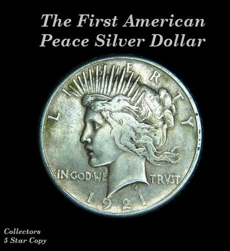 Copy - Peace Silver Dollar - .999 Fine Silver Plating