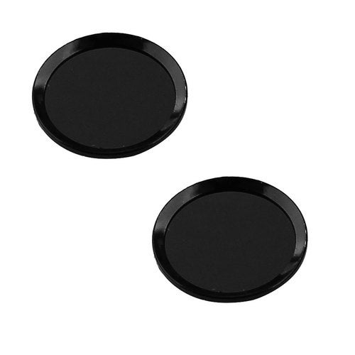Metal Phone Home Button Sticker Protector 2 PCS Black for iPhone iPad
