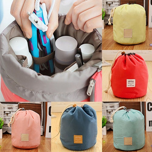 Home Travel Cosmetic Makeup Bag Toiletry Jewelry Drawstring Storage Case Pouch