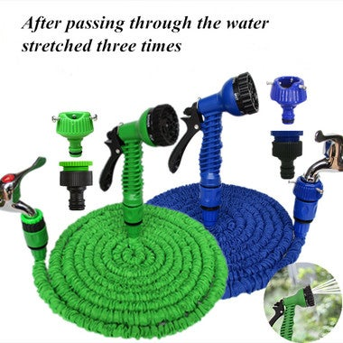 Telescopic garden water pipe longer three times the ink pipe