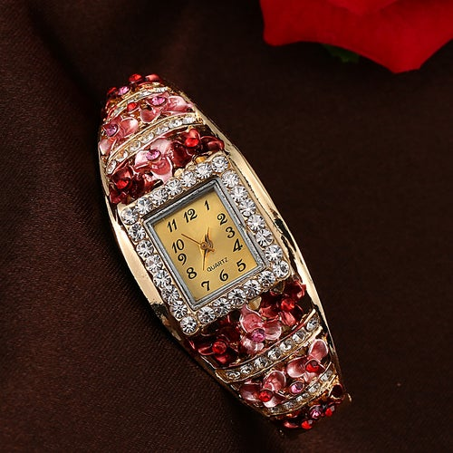 Luxury Retro Full Crystal Bracelet Watch