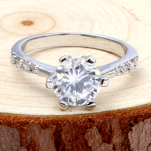 Gorgeous White Sapphire Sterling Silver Ring