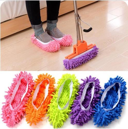 Lazy towing slippers sets of clean floor removable washable slippers