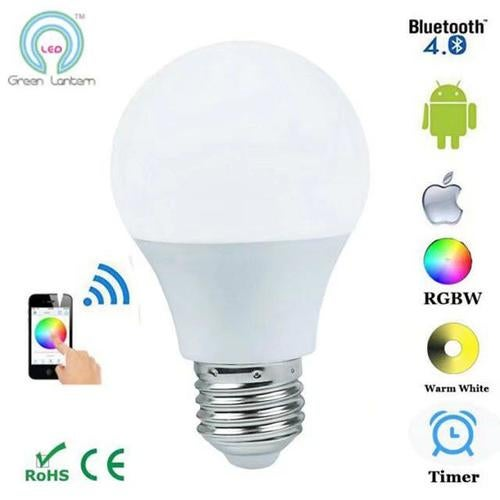 RGBW 4.5W Bluetooth Bulb Light LED Smart Bulb Bluetooth Android Smart home with music control