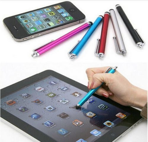 Metal Touch Screen Capacitive Stylus Pen Soft Head For Smartphone Tablet PC