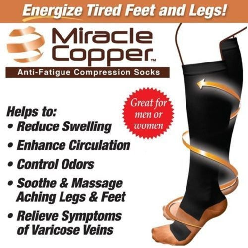 Miracle Copper Anti-Fatigue Compression Socks Perfect for Men and Women