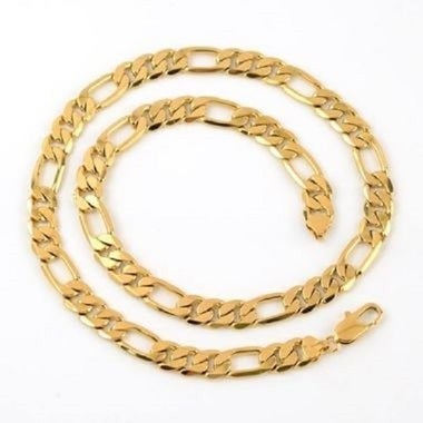 14K Gold Thick Figaro Chain 24