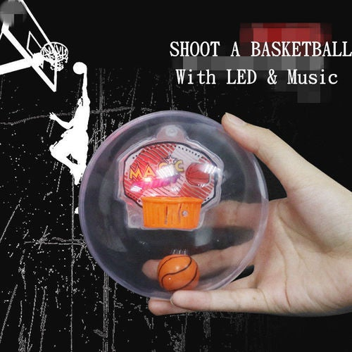 SHOOT A BASKETBALL LED Music Mini Handheld Basketball Player Anti-stress Toy