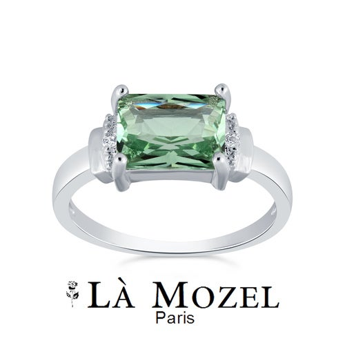 Limited Anniversary Edition Beautiful 2.00 Carat Highly Graded Green Stone Emerald Cut Ring